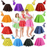 POLKA DOT ROCK n ROLL 50s SKIRT & SCARF FANCY DRESS COSTUME Hen Party ADULTS UK