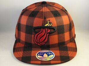 Miami Heat NBA Adidas Flex Cap Hat Size S/M Red Black