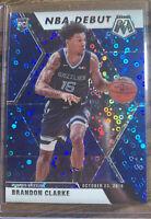 2020 Panini Mosaic Brandon Clarke NBA DEBUT BLUE DISCO PRIZM RC /85