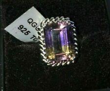 Stunning Gemporia Anahi Ametrine Citrine & Amethyst 925 Silver Ring Size L/M.