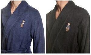 NWT Men's Polo Ralph Lauren Varsity Bear Logo Terry Robe Size S/M, L/XL MSRP $90