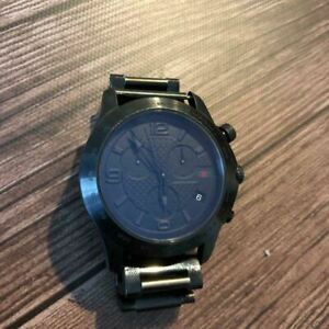 500 by Fiat x Gucci 126.2 Swiss Made WR 5ATM Black Stainless Steel Analog Watch