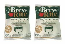 Coffee Filters for Norelco I Disc Flat Paper Filters - 600ct  - NEW