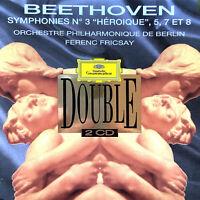 "Beethoven / Ferenc Fricsay 2xCD Symphonies n°3 ""Héroïque"", 5 7 et 8 - France (EX"
