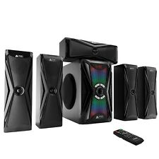 Frisby Audio Home Theater System, RGB Lighting, Digital Optical, Bluetooth, New