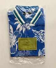 New ETRO Men's Polo Shirt Blue Paisley size L