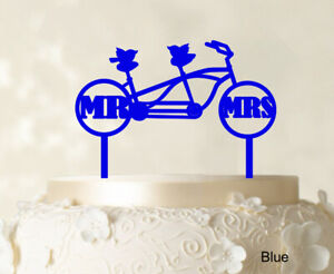 Mr & Mrs Wedding Cake Topper Custom Name Cake Topper Color Option-MkV