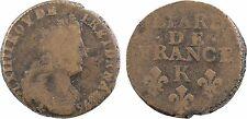 Louis XIV, liard de France, Bordeaux 1696 sur 5 ou 1695, RARE - 144
