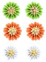 Pretty daisy / plum flower stud earrings 50s 60s retro multiple choices