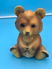 "VINTAGE 7"" CERAMIC BEAR PIGGY BANK CORAN MADE IN JAPAN"