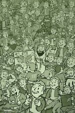 FALLOUT 4 - VAULT BOY COLLAGE POSTER 24x36 - VIDEO GAME 160602