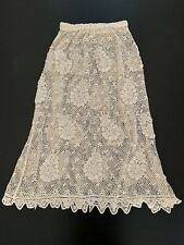 Lim's Vintage All Hand Crochet Maxi Length Skirt, Color Natural, Size S