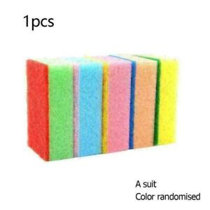 1PC Cleaning Sponge Brush 9*6*3CM Random color Hot W3R1 R5F8