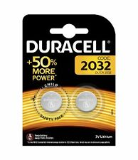 Original Duracell CR2032 3v LITHIUM Coin Cell Batteries (pack of 2) DL2032