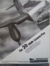 6/1990 PUB GIAT INDUSTRIES 20 MM CANNON POD CANON PILATUS PC-7 PUMA ORIGINAL  AD