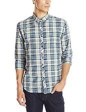 Billabong Men Redford Beige Flannel Shirt Sz Large Long Sleeve M506CRED
