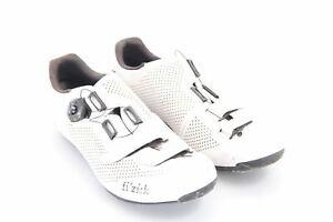 USED Fizik R4 Road Shoe 45 EU Men's 11.5 US White 3-Bolt Boa