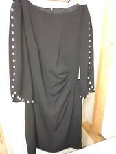 Jessica Howard Black Dress -- Size 10P -- 3/4 length sleeves