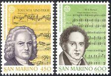 San Marino 1985 Europa/Bach/Bellini/Music/Composers/People/Score 2v set (n43374)