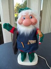 "Vtg Christmas Elf Gnome Toy Maker Animated!  20""!  SANTAKINS!  MOVES! UNIQUE"