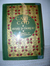 Cape Cod By Henry D. Thoreau 1908 2nd Edition Illustrated by Clifton Johnson!!!