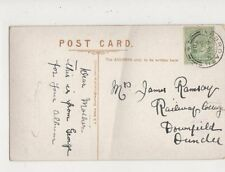 Mrs James Ramsay Railway Cottage Downfield Dundee 1908 533a