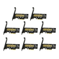 8 Pieces M.2 NVMe SSD to PCIE X4 Adapter M Key 2230-2280 M.2 SSD Full Speed