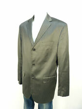 Hugo Boss chaqueta talla 106/gris a rayas & como nuevo-con seda (K 1563)