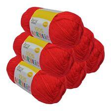 Super Soft Acrylic Knitting Yarn 100g 8 Ply 189m Solid Lipstick