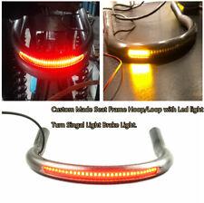 Seat Frame Upswept Hoop Loop w/Brake Turn Singal Light For Honda CB Yamaha XS