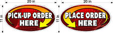 """NEW DESIGN PLEXIGLASS SIGNS PLACE & PICK UP ORDER HERE NEW 11"""" X 20"""" COUNTER"""