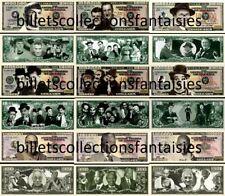 Lot de 9 Billets différents : Série LEGENDES # 3. Commémoration / Collection