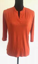 Doublju Womens 1/2 Sleeve V Neck Loose Fit Rayon light Cool Stretch Shirts