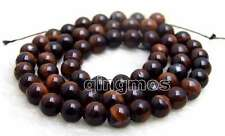 "SALE small 6mm Red Round natural tiger's-eye gemstone Beads strand-15"" -los695"