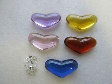 5-20 x Glass Hearts 43 x22mm - 5 Colour Choice - Free Bails