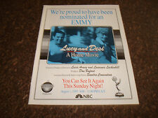 LUCY AND DESI A Home Movie 1993 Emmy ad by Lucie Arnaz, Lucille Ball, Desi Arnaz