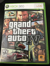GTA GRAND THEFT AUTO IV - XBOX 360 - CASE, DISC, MAP & MANUAL - TESTED