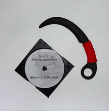 Polypropylene Karambit Black Practice Training Knife Trainer Video DVD