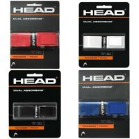 HEAD RACKET GRIP - HEAD DUAL ABSORBING TENNIS BADMINTON SQUASH GRIP - 5 COLOURS