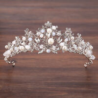 New Fashion Wedding Pearl Bridal Crowns Handmade Tiara Bride Headband Crystal HC