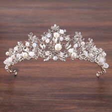 New Fashion Wedding Pearl Bridal Crowns Handmade Tiara Bride Headband Crystayu