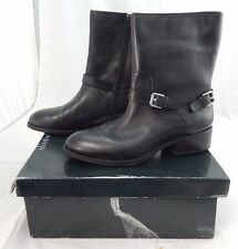 RALPH LAUREN MESI Black Leather Booties Short Boots Shoes 6B $139