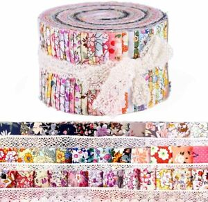 36Pcs Cotton Quilting Fabric Printed Jelly Roll Strips For DIY Craft Patchwork