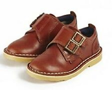 Kickers Adlar Monk Strap Tan Leather Boys Shoes New