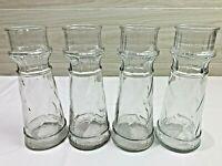 Set of 4 Matching Vintage 80's Red Lobster Lighthouse Glasses or Clear Vases