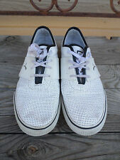 Puma El Ace White Perforated Leather Shoes Men's size 10