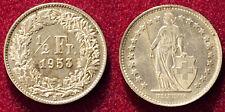 Switzerland 1/2 Franc 1953