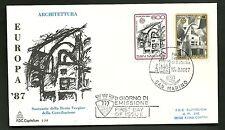 BUSTA FDC SAN MARINO CAPITOLIUM 1987 NATALE EUROPA ARCHITETTURA MODERNA FDC RARA