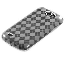 T-MOBILE SAMSUNG EXHIBIT 2 II 4G T679 CANDY SKIN COVER CLEAR ARGYLE
