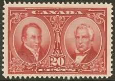 Canada 148 MH 20c Baldwin & Lafontaine -Cat $27.50 (Light Forehead Wrinkle)